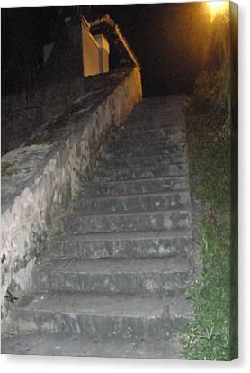El Morro Trail Steps Canvas Print by Maria Medina