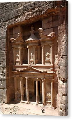 Elaborate Sandstone Temple Or Tomb Canvas Print by Luis Marden