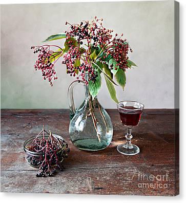 Berry Canvas Print - Elderberries 08 by Nailia Schwarz
