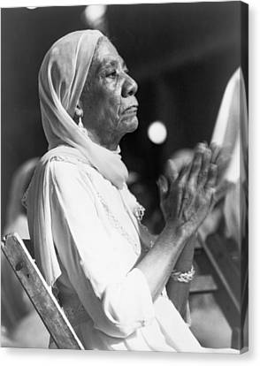 Elderly African American Woman Canvas Print by Everett