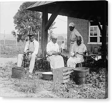 Elderly African Americans Who Were Once Canvas Print by Everett
