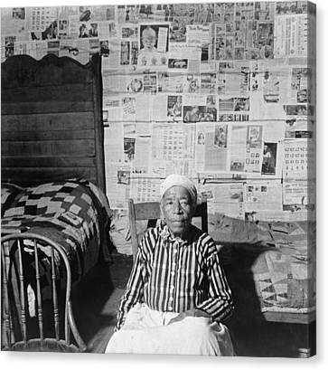 Elderly Former Slave In Her Sitting Canvas Print by Everett