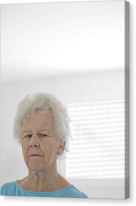 Frailty Canvas Print - Elderly Woman by Cristina Pedrazzini