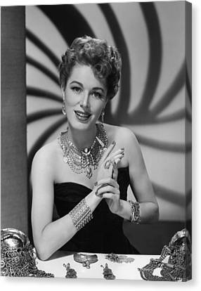 Eleanor Parker, Ca.late 1940s Canvas Print by Everett