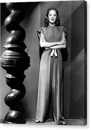 Eleanor Parker, Wearing A One-piece Canvas Print by Everett