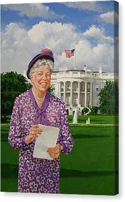 Eleanor Everywhere Canvas Print by Cliff Spohn