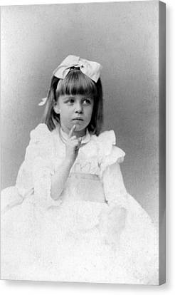 Eleanor Roosevelts At The Age Of Five Canvas Print by Everett