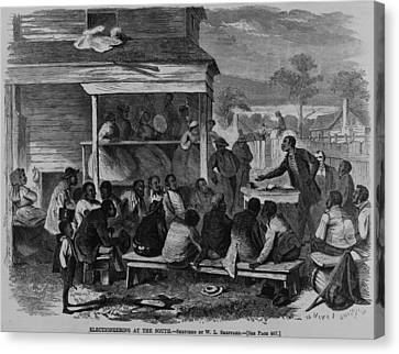 Electioneering In The South In Summer Canvas Print by Everett