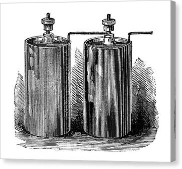 Electric Batteries, 19th Century Canvas Print by