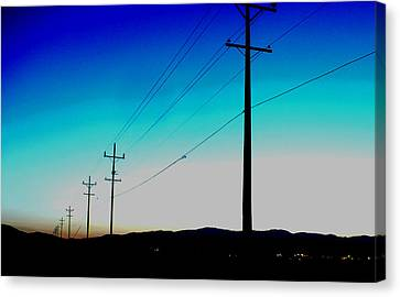 Electric Blue Canvas Print by Chad Rice