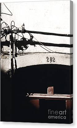 Canvas Print featuring the photograph Electric Cables by Agnieszka Kubica