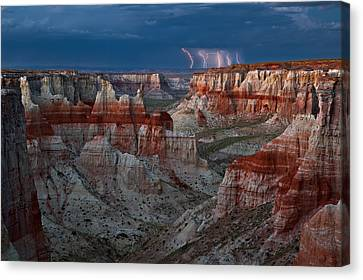 Electric Canyon Canvas Print by Guy Schmickle