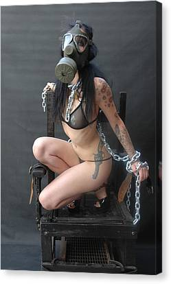 Electric Chair - Bound N Chained Canvas Print by Liezel Rubin