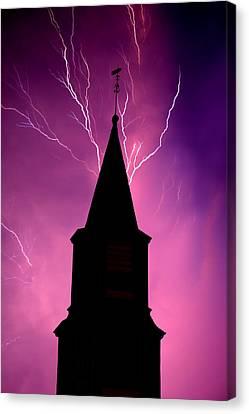 Electric Church Canvas Print by Tim Scullion