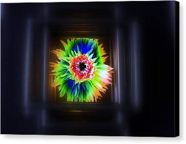 Electric Flower Canvas Print by Marcia Lee Jones
