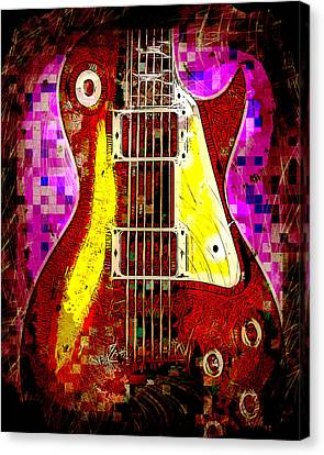 Electric Guitar Abstract Canvas Print by David G Paul