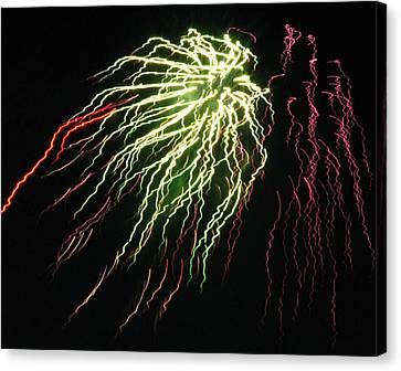 Electric Jellyfish Canvas Print by Rhonda Barrett