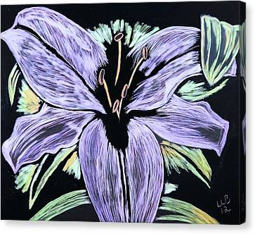 Electric Lily Phase Two Canvas Print