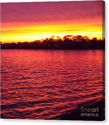 Canvas Print featuring the photograph Electric Sea Series by Cindy Lee Longhini