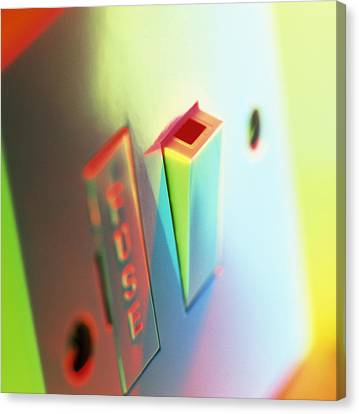 Electric Switch Canvas Print by Tek Image