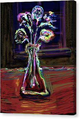 Electric Vase Canvas Print by Russell Pierce