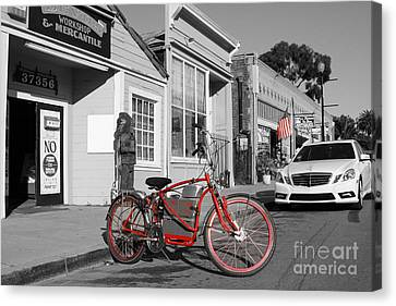 Electric Vehicle . Peddle Power . Infinite Miles To The Gallon . 7d12729 Canvas Print by Wingsdomain Art and Photography
