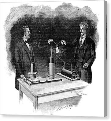 Electrical Experiment, Early 20th Century Canvas Print