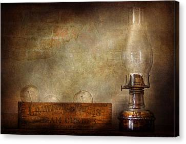 Electrician - Advancements In Lighting  Canvas Print by Mike Savad
