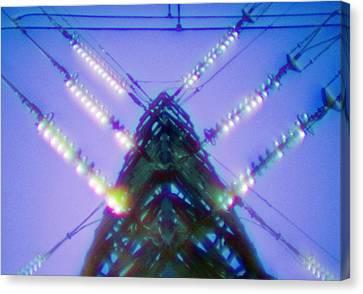 Electricity Power Pylon Canvas Print by Richard Kail