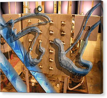 Electro Goo Canvas Print by Steve Sperry