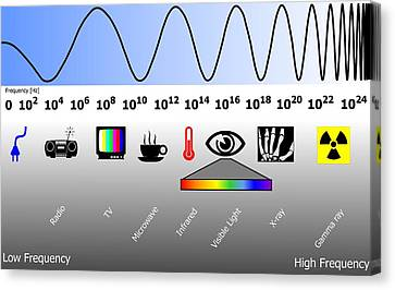 Electromagnetic Spectrum Canvas Print by Friedrich Saurer