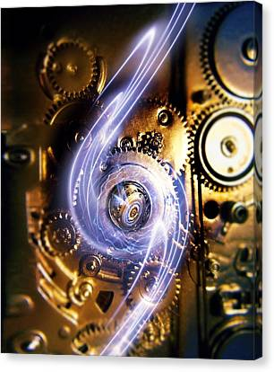 Electromechanics, Conceptual Image Canvas Print by Richard Kail