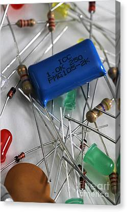 Electronic Component Canvas Print - Electronic Components by Photo Researchers, Inc.