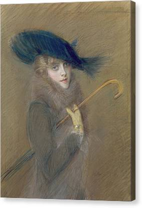 Elegant Lady Canvas Print by Paul Cesar Helleu
