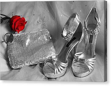 Elegant Night Out In Selective Color Canvas Print by Mark J Seefeldt
