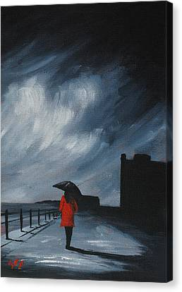 Elegant Walk Canvas Print by J P  McLaughlin