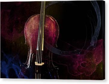 Elemental Cello Remix Canvas Print by Sam Hymas