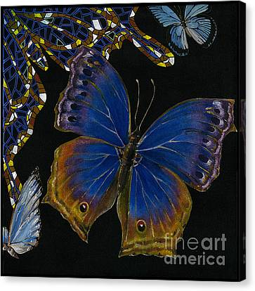 Elena Yakubovich - Butterfly 2x2 Lower Right Corner Canvas Print by Elena Yakubovich
