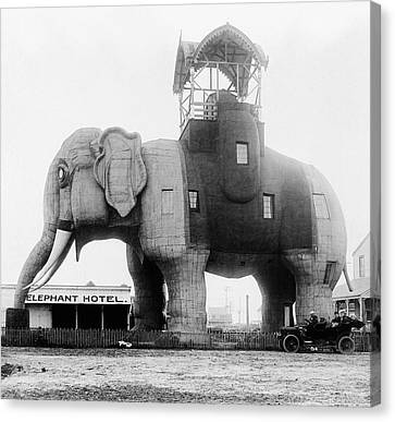 Elephant Hotel Canvas Print by Topical Press Agency