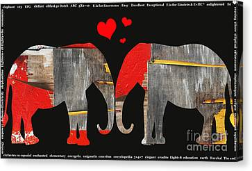 Elephant Love Kids Licensing Art Canvas Print by Anahi DeCanio