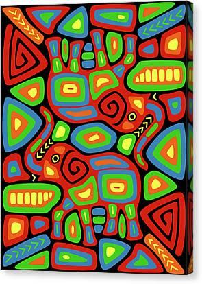 Elephant Mola Canvas Print