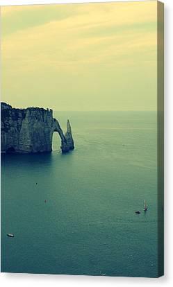 Elephant Rock In Etretat, Normandy In France Canvas Print by Photo by Ira Heuvelman-Dobrolyubova