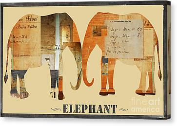 Elephants Juvenile Licensing Art Canvas Print by Anahi DeCanio