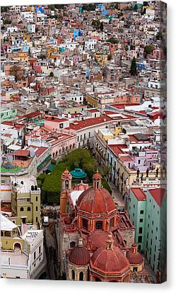 Elevated View Over The City Of Guanajuato In Mexico Canvas Print by Mint Images/ Art Wolfe