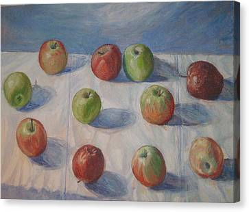 Eleven Apples Canvas Print