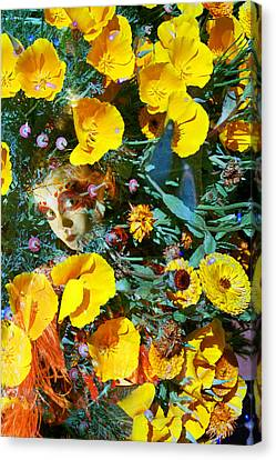 Elfin Child Of Poppies Canvas Print