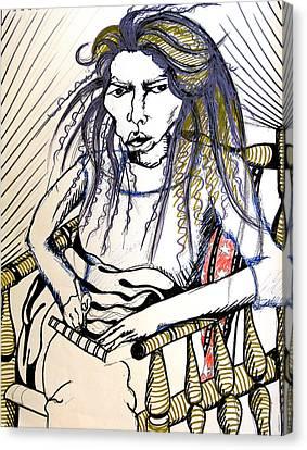 Elham Canvas Print by Nina Mirhabibi