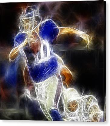 Eli Manning Quarterback Canvas Print by Paul Ward