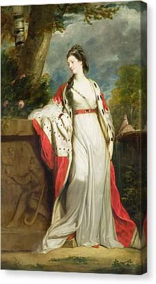Elizabeth Gunning - Duchess Of Hamilton And Duchess Of Argyll Canvas Print by Sir Joshua Reynolds