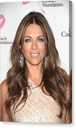 Elizabeth Hurley At Arrivals Canvas Print